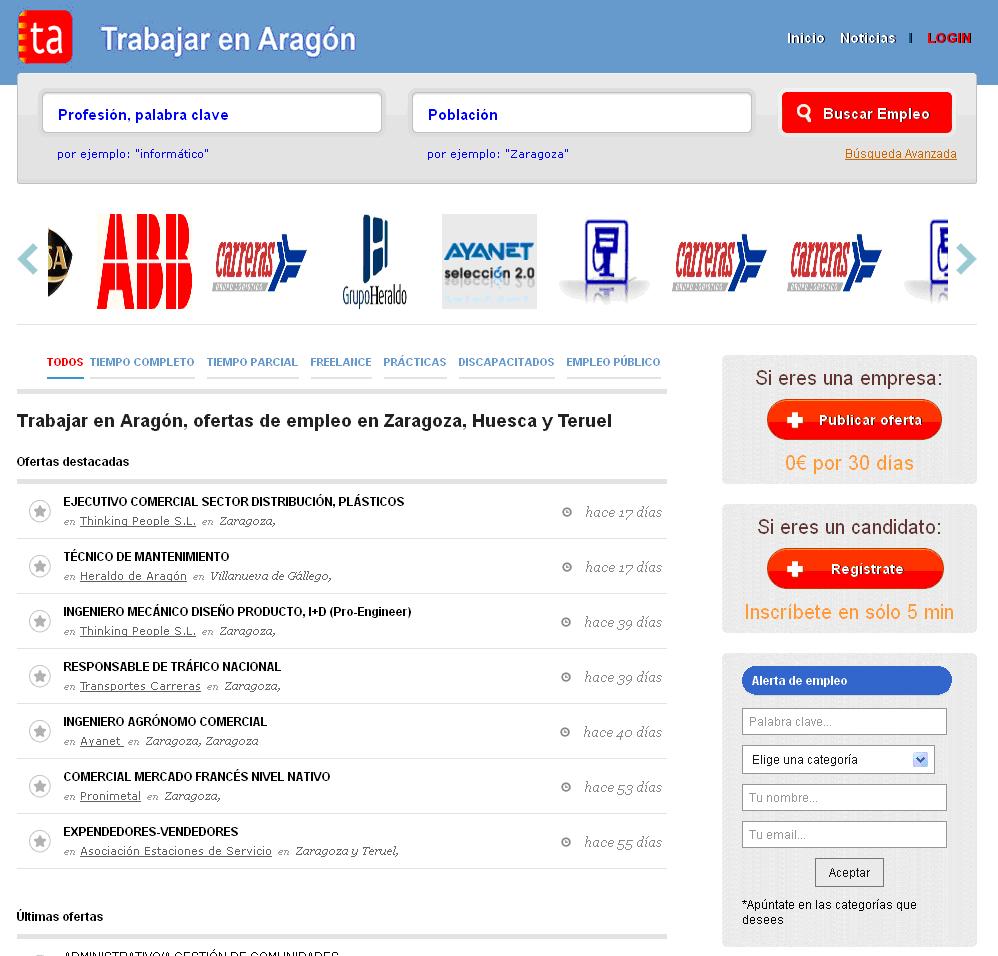 Trabajar en Aragon